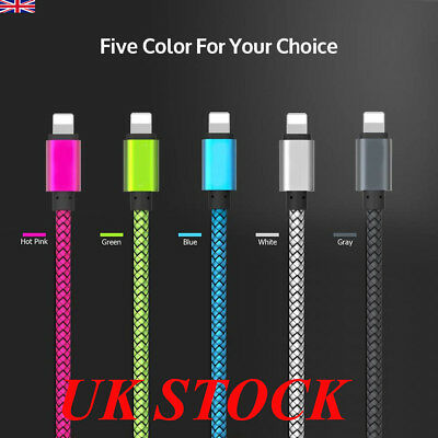 Long Braided USB Cable Quick High Speed Data Fast Charger For iPhone 6s 6 7 8 X