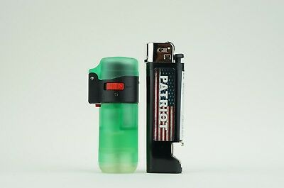 2 Items - Eagle Refillable Single Torch Lighter With Patriot Disposable Lighter