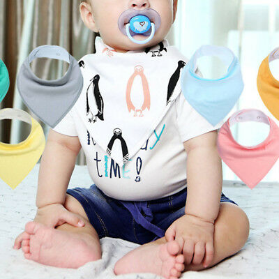 6PCS Baby Infant Boy Girl Bandana Bibs Feeding Saliva Towel Dribble Triangle Bib