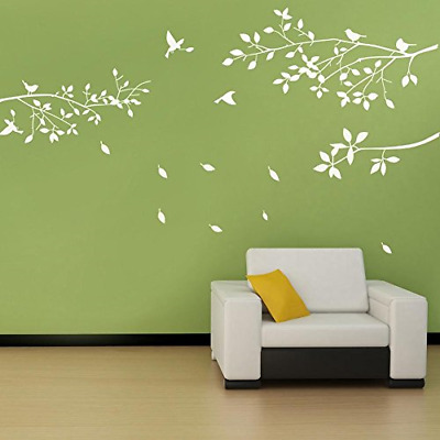BDECOLL Tree Branch Wall Decal with Birds Wall Decals Vinyl Sticker Nursery Room