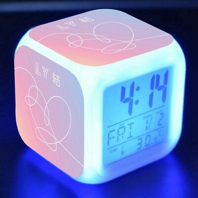 KPOP BTS Alarm Color Changing Clock Bangtan Boys Night Light Pop JIMIN SUGA