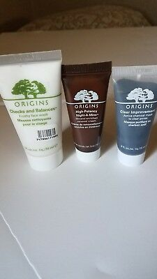 ORIGINS Checks  and balances face wash, High Potency Night A Mins, Charcoalmask