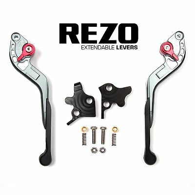 REZO Titanium Extendable Brake and Clutch Lever Set for Ducati 1198 R 09-11