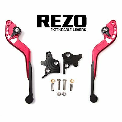 REZO Red Extendable Brake and Clutch Lever Set for Triumph Thruxton 04-15
