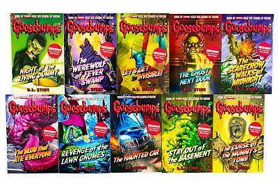 The Classic Goosebumps Series R L STINE 10 Book Collection Stay out of the Basem