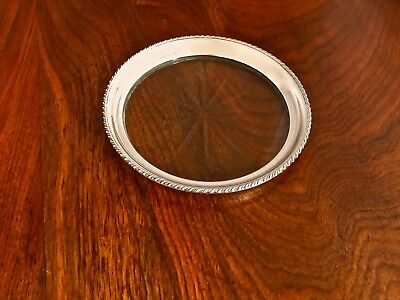 - Webster Co. Sterling Silver & Glass Bottle Coaster: No Monograms