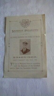 Souvenir Programme of the visit of His Royal Highness The Prince of Wales 1921