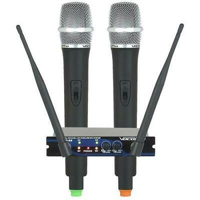 VocoPro UHF-28 Dual-Channel UHF Wireless Microphone System #UHF-28-9