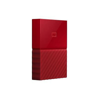 WD My Passport 4TB USB 3.0 Portable External Hard Drive, Red #WDBYFT0040BRD-WESN