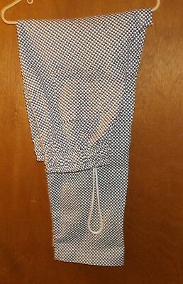 UTY Apparel Chef Pants Black and White Checkered Pattern Checkerboard Size Large