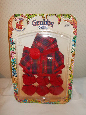 Vintage 1987 The World of Teddy Ruxpin Sleepytime Outfit for Grubby NIP Grubby
