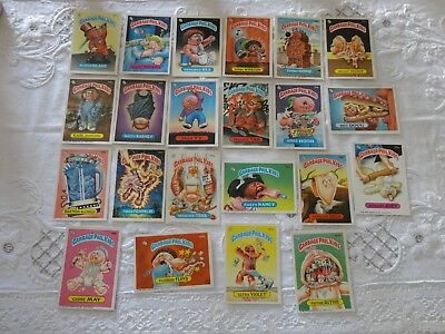 Joli lot de 22 Cartes Garbage Pail Kids U.S vintage 1986