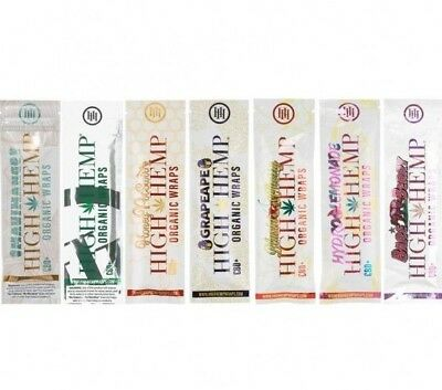 High Hemp Variety Pack 7 Pouches (12 Wraps Total) Herbal Organic Vegan Wraps