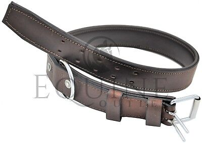 Leather Tethering Collar / Neck Strap - Brown