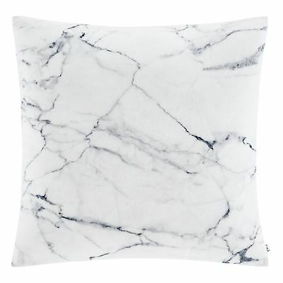 """Catherine Lansfield Marble Cushion Cover Grey 18x18""""/45x45cm Faux Crushed Velvet"""