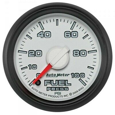 Auto Meter Factory Matched Fuel Pressure Gauge 8563 For 0-100 Psi 03-09 Dodge