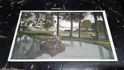 Vintage Postcard Water Works Park  Canton Ohio