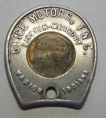 Marion Indiana Brice Motors Lincoln Mercury 1956 D Encased Lincoln Cent
