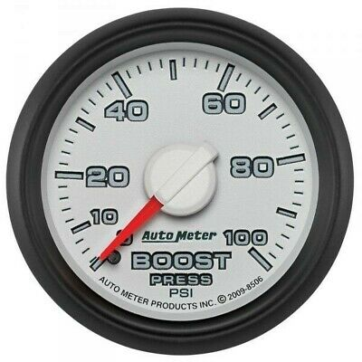 Auto Meter Factory Matched Boost Gauge 8506 For 0-100 Psi 03-09 Dodge