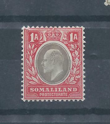 Somaliland Protectorate stamps 1904 Edward VII Crown CA watermark 1a MH   (C597)