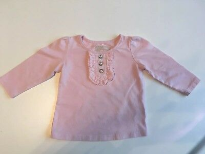 Next Baby Girls Pink Ruffle Front Top 6-9 Months