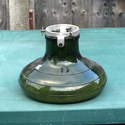 Bulach vintage glass & metal Christmas tree stand made in Switzerland
