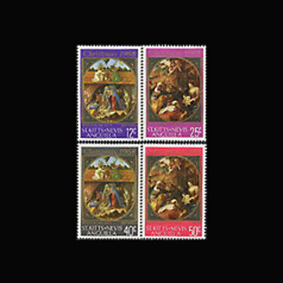 St Kitts Nevis Anguilla, Sc #191-94, MNH, 1968, Christmas, Paintings, 1218