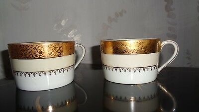 2 Tasses A The Porcelaine Ch. Field  Haviland