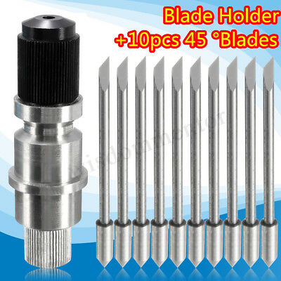 Plotter Blade Holder + 10PC 45 Degree Blades For CB09 Graphtec Cutting Plotter !