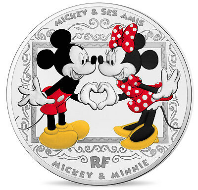 10 Euro Silber Proof Mickey and Friends - Mickey & Minnie Frankreich France 2018