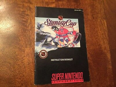 Stanley Cup Super Nintendo SNES Instruction Manual Booklet ONLY