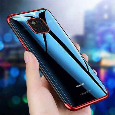 For Huawei P20 Pro Mate20 Pro Lite Plating Soft Silicone Hybrid Clear Case Cover