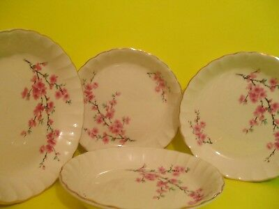 W. S. George Peach Blossom Soup Bowls
