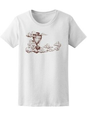 Hot Air Balloon Up In The Sky Women's Tee -Image by Shutterstock