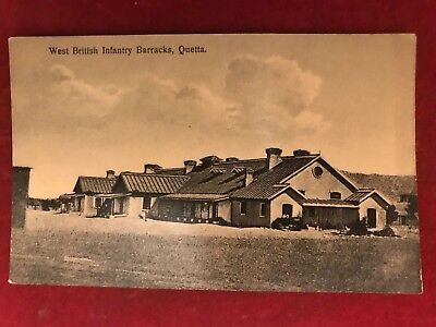"Old Postcard Of "" West British Infantry Barracks Quetta ""  ,india"