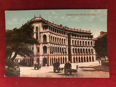 "Old Postcard Of "" Elphinstone Circle Bombay ""  ,india"