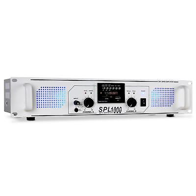 Top Ampli Dj Pa Skytec Spl-1000 Usb Sd Mp3 Rack 48Cm Tuner Radio Aux Led 2800W