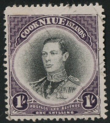 British Colonies,King George VI.USED. #112 from COOK ISLANDS. Good cat. Value