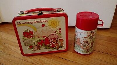Aladdin Industries Vintage Metal Strawberry Shortcake Lunchbox with Thermos