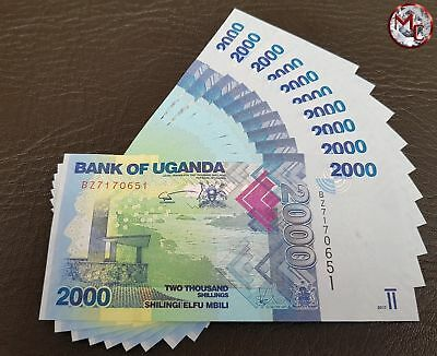Uganda- 2000 Shillings 2017- Set 10 PCS - UNC