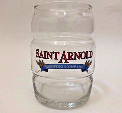 Saint Arnold Brewing Company Barrel Style Beer Glass 16oz Houston Brewery Pint