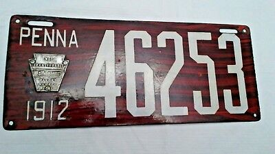 1912 Pennsylvania Porcelain License Plates