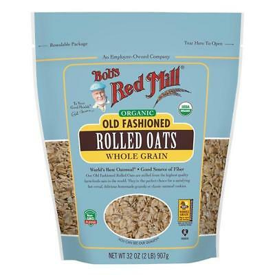 Bob's Red Mill Organic Regular Rolled Oats 32 Oz. Resealable Bag 234173