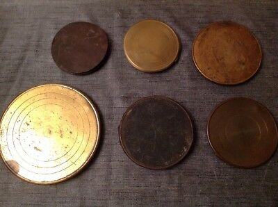 6 Antique Clock Back Doors Metal Brass Ex Clockmakers Spare Parts Ref 10