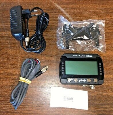 AiM SOLO 2 DL OBDII GPS Lap Timer & DATA System W/ Cables Mount NEW FREE SHIP