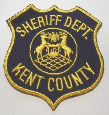 Kent County Michigan Sheriff Navy Blue Background Patch Unused