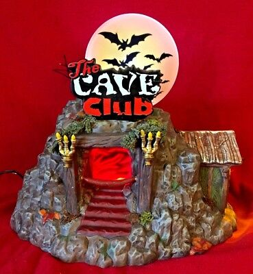 The Cave Club Dept 56 Snow Village Halloween 4025339 dance house plays music A