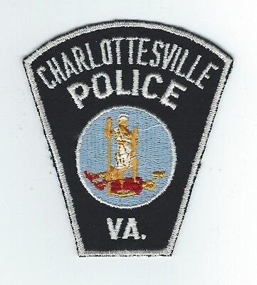 VINTAGE CHARLOTTESVILLE, VIRGINIA POLICE (CHEESE CLOTH BACK) patch