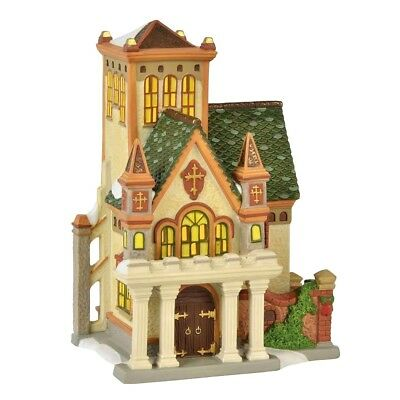 Duniway Abbey Dept 56 Dickens Village 6000583 Christmas Victorian church snow A