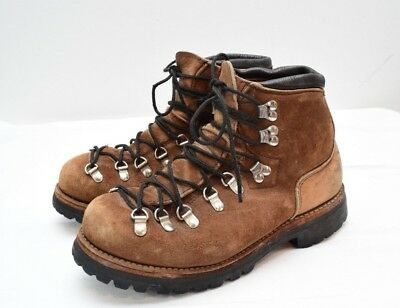 Vtg Dexter Leather Hiking Boots Vibram Sole Mens 7.5M Fits Womens 8.5W Made USA